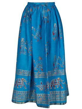 Amore Printed Cotton Skirt -Skv161R