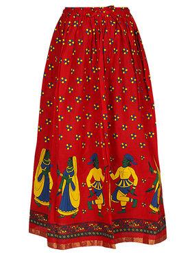 Amore Printed Cotton Skirt -Skv183R