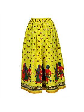 Amore Printed Cotton Skirt -Skv185Fy