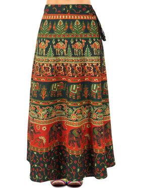 Amore Printed Cotton Skirt -SKVW12G