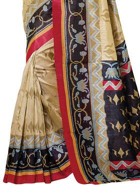 Shonaya Printed Handloom Cotton Silk Saree -Snkvs-3006-A