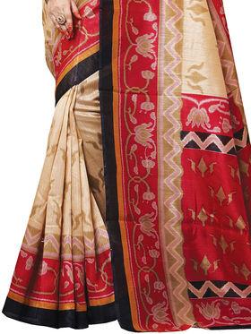 Shonaya Printed Handloom Cotton Silk Saree -Snkvs-3006-B