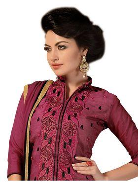 Khushali Fashion Chanderi Embroidered Dress Material -Ssblfr1006