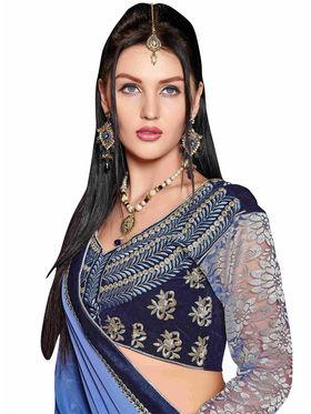 Khushali Fashion Georgette Embroidered Saree -Stast3202