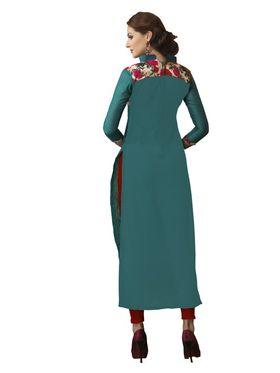 Viva N Diva Chanderi Bhagalpuri Karachi Embroidered Unstitched Suit Suhaani-1002