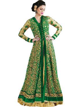 Thankar Semi Stitched  Net Embroidery Dress Material Tas273-4605A
