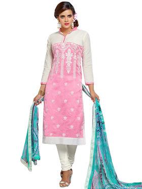 Thankar Semi Stitched  Cotton Embroidery Dress Material Tas281-102Dm