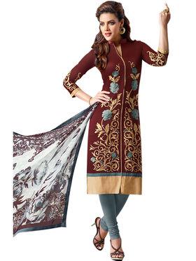 Thankar Semi Stitched  Cotton Embroidery Dress Material Tas281-106Dm
