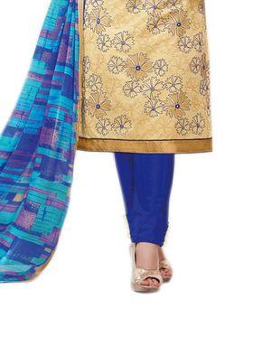 Thankar Semi Stitched  Cotton Embroidery Dress Material Tas288-2402
