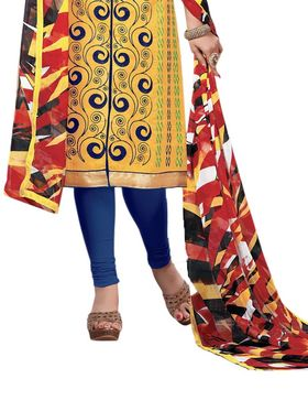 Thankar Semi Stitched  Cotton Embroidery Dress Material Tas288-2410