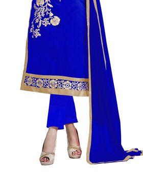 Thankar Semi Stitched  Chanderi Cotton Embroidery Dress Material Tas290-5307B
