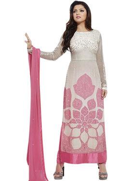 Thankar Semi Stitched  Georgette Embroidery Dress Material Tas294-8256