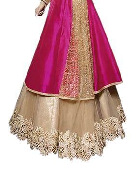 Thankar Semi Stitched  Pure Silk, Net Embroidery Dress Material Tas296-7020Rf