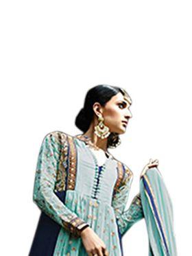 Thankar Semi Stitched  Georgette Embroidery Dress Material Tas296-7022Rf