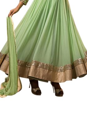 Thankar Semi Stitched  Georgette Embroidery Dress Material Tas298-5080
