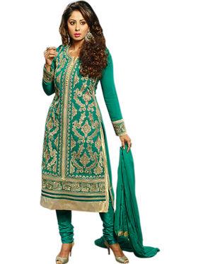 Thankar Semi Stitched  Faux Georgette Embroidery Dress Material Tas303-B01