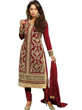 Thankar Semi Stitched  Faux Georgette Embroidery Dress Material Tas303-B02