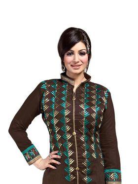 Thankar Semi Stitched  Chanderi Silk Embroidery Dress Material Tas308-6103