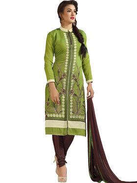 Thankar Embroidered Chanderi Cotton Semi-Stitched Suit -Tas315-6306