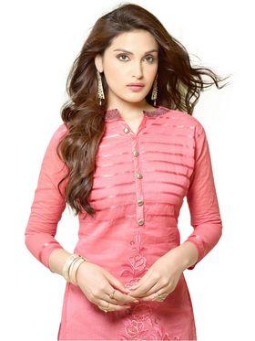 Thankar Embroidered Chanderi Cotton Semi-Stitched Suit -Tas332-3157
