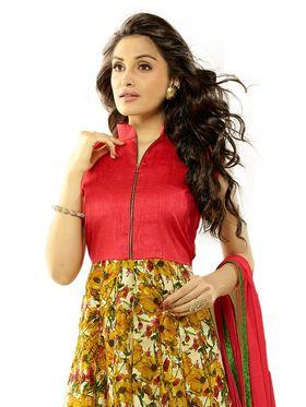 Thankar Printed Bhagalpuri Semi-Stitched Suit -Tas333-2049