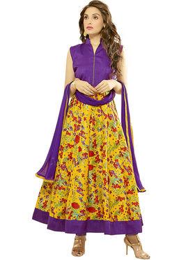 Thankar Printed Bhagalpuri Semi-Stitched Suit -Tas333-2055