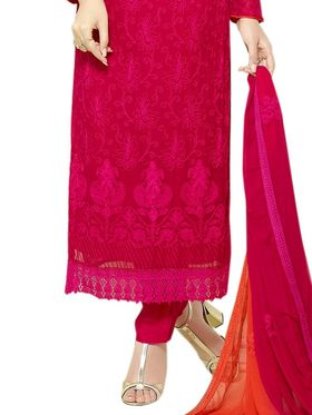 Thankar Embroidered Pure Chiffon Semi-Stitched Suit� -Tas334-2144