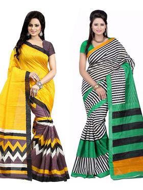 Pack of 2 Thankar Printed Bhagalpuri Saree -Tds137-209.210