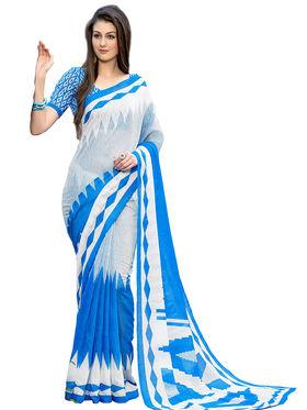 Triveni's Art Silk Printed Saree -TSHRMD2705
