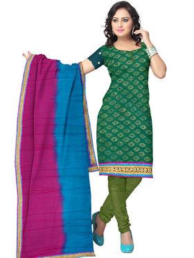 Triveni's Chiffon Net Lace Dress Material -TSSK13033