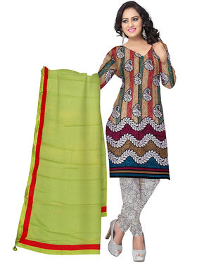 Triveni's Blended Cotton Printed Dress Material -TSSK13035