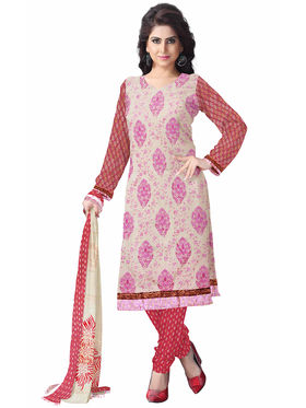 Triveni's Blended Cotton Embroidered Dress Material -TSSK13042
