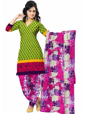 Triveni's Polyester Printed Dress Material -TSSTPMSK10004