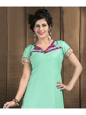Viva N Diva Cotton Lace Work Embellished Unstitched Suit Tanaz-116