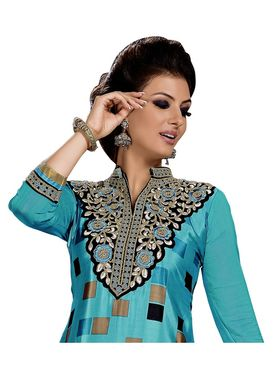 Khushali Fashion French Crepe Embroidered Dress Material -Vrvmtr6004