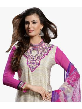 Khushali Fashion French Crepe Embroidered Dress Material -Vrvmtr6010