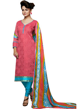 Khushali Fashion Chanderi Embroidered Unstitched Dress Material -VSIDC451005