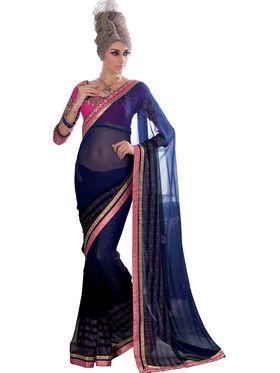 Viva N Diva Georgette Embroidered Saree Vanisha-2152