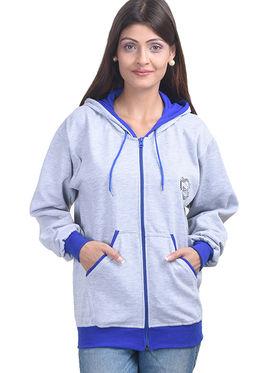 Eprilla Wool Plain  Sweatshirt - Grey -eprl69