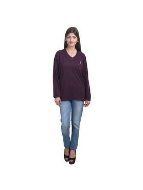 Pack of 3 Eprilla Spun Cotton Plain Full Sleeves Sweaters -eprl49