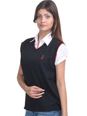 Eprilla Spun Cotton Plain Sleeveless Sweater  -eprl01