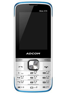 Adcom Boss X15 Dual Sim Phone - White&Blue