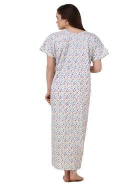 Fasense Cotton Floral Print Nightwear Long Nighty -YT021A1