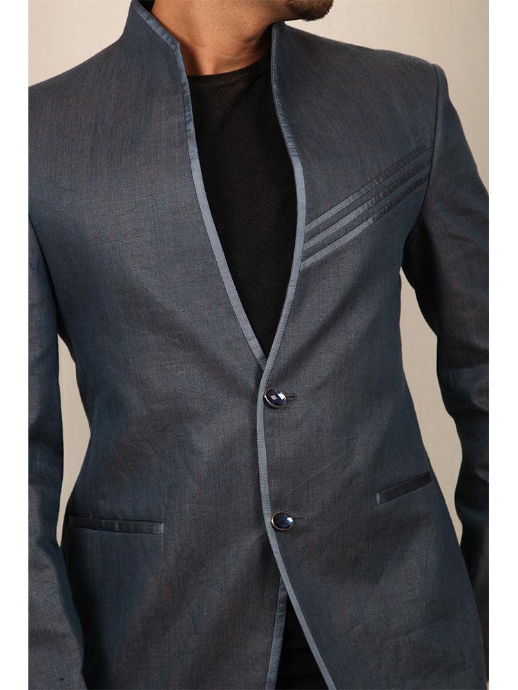 Buy Runako Solid Regular Full Sleeves Party Wear Blazer For Men - Blue_RK5030 Online At Best ...