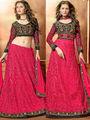Viva N Diva Embroidered 2 in 1  Lehenga cum Anarkali Suit  - Dusty Pink & Black