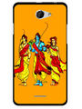 Snooky Designer Print Hard Back Case Cover For HTC Desire 516 - Yellow
