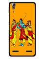 Snooky Designer Print Hard Back Case Cover For Lenovo A6000 - Yellow