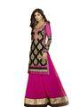 Adah Fashions Georgette Semi Stiched Salwar Kameez - Pink - 501-6005