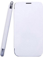 Camphor Flip Cover for Micromax A210 - White