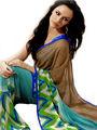 Ethnic Trend Chiffon Printed Saree - Multicolour - 11006